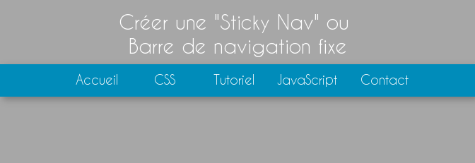 how to make a sticky header in css
